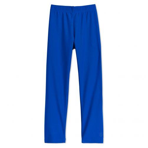 Coolibar - UV swim leggings for children - Blue wave - Front