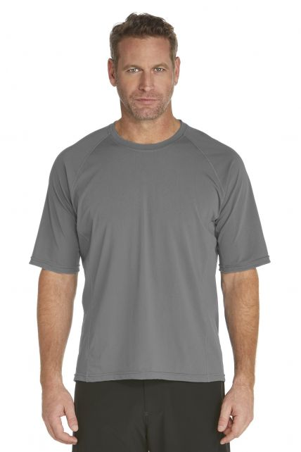 Coolibar---Men's-Short-Sleeve-Swim-Shirt---grey