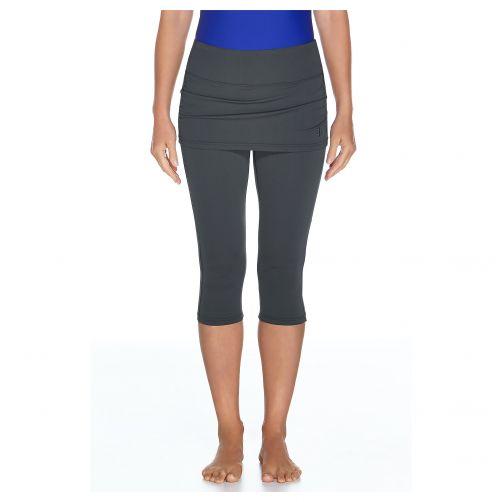 Coolibar---UV-skirted-swim-leggings-for-women---Graphite-grey