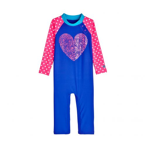 Coolibar - UV swimsuit for babies - Floral Heart - Front