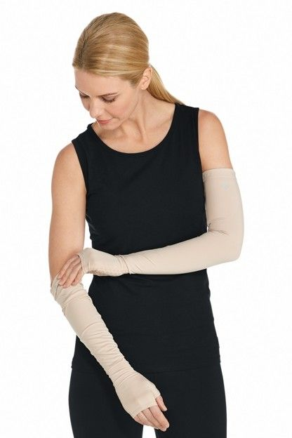 Coolibar---UV-Protection-Sleeves-for-adults---Foraker---Beige