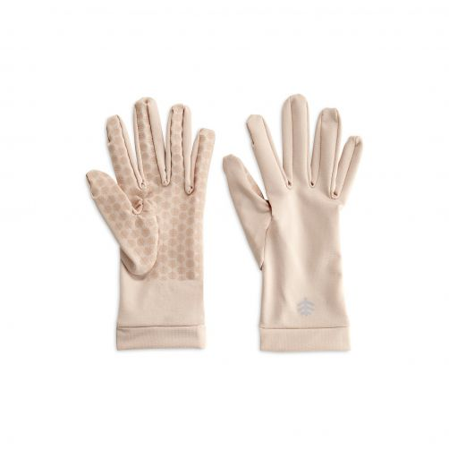 Coolibar---UV-sun-gloves-unisex--Beige