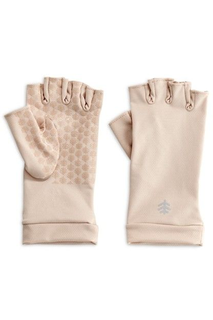 Coolibar---UV-resistant-fingerless-gloves-for-adults---Ouray---Beige