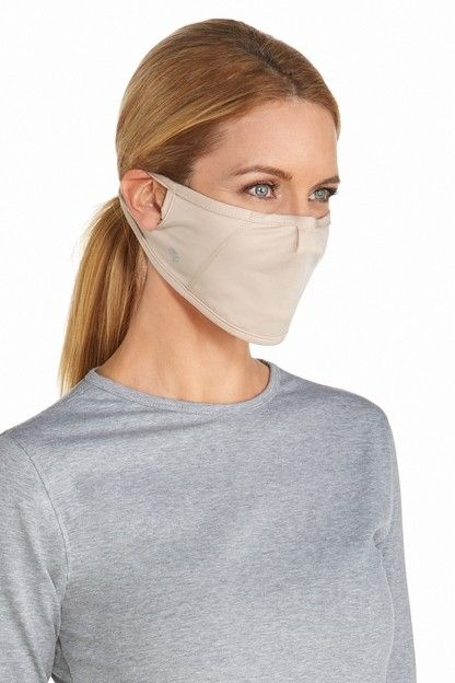 Coolibar---UV-resistant-Mask-for-adults---Blackburn---Beige