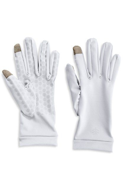Coolibar---UV-resistant-gloves-with-touch-compatibility---White