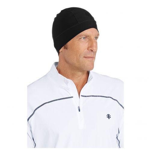 Coolibar---UV-swim-cap-unisex--Black