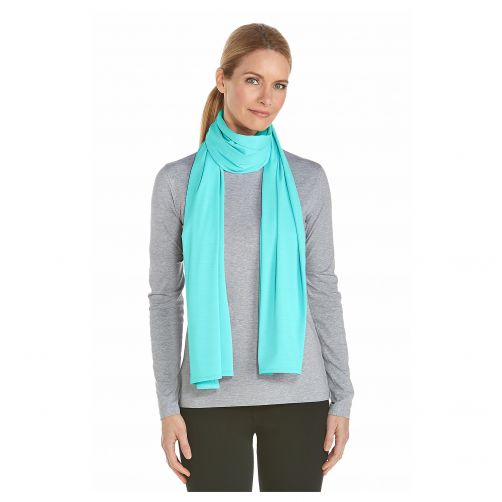 Coolibar---UV-sun-scarf---Cool-aqua-blue