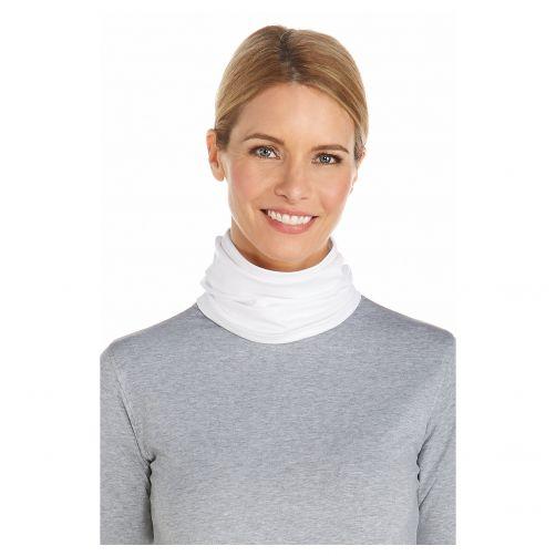 Coolibar - UV neck gaiter unisex- White - Front