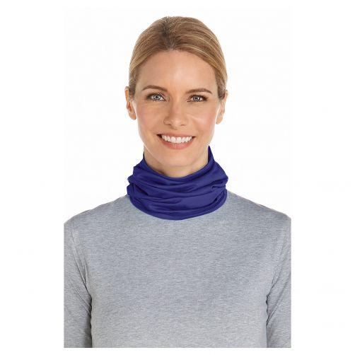 Coolibar - UV neck gaiter unisex- Midnight blue - Front