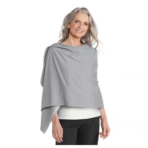 Coolibar---UV-resistant-convertible-shawl---Light-Grey