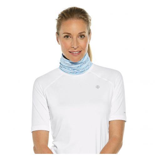 Coolibar---UV-sun-gaiter-for-men-and-women---blue-white-striped