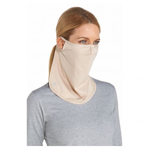 Coolibar---UV-face-mask-unisex--Long---Beige