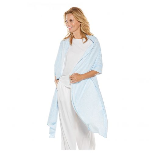 Coolibar---UV-shawl-for-women---blue-and-white