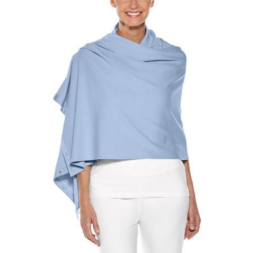 Coolibar---UV-resistant-convertible-shawl---Vintage-Blue