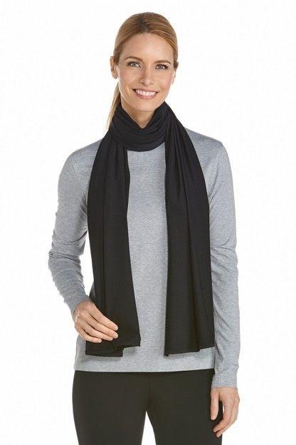 Coolibar---UV-resistant-sun-scarf---Black