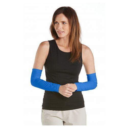 Coolibar---UV-sleeves-for-women---Brilliant-Blue