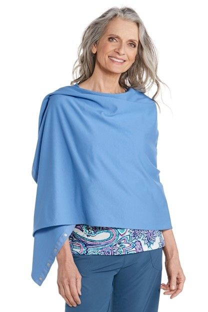 Coolibar---UV-resistant-convertible-shawl---Blue