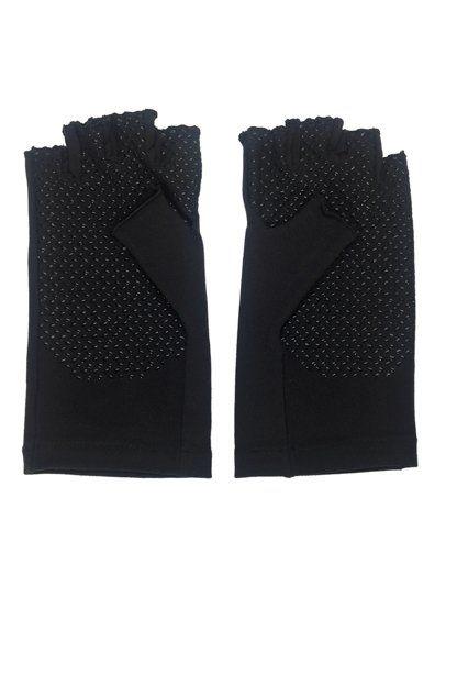 Coolibar---UV-resistant-fingerless-gloves---Black
