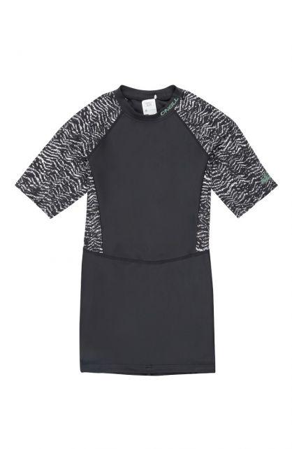 O'Neill---Women's-long-UV-shirt---short-sleeves---Mix---Black