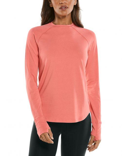 Coolibar---UV-Shirt-for-women---Longsleeve---LumaLeo---Peach