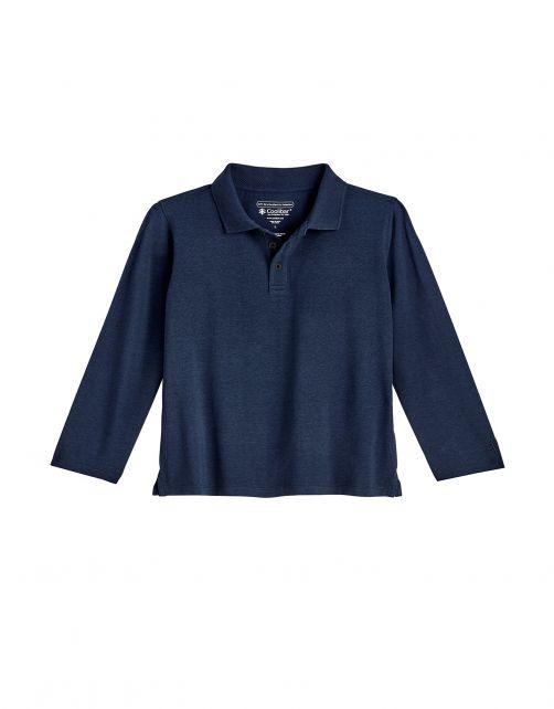 Coolibar---UV-Polo-Shirt-for-toddlers---Longsleeve---Coppitt---Navy