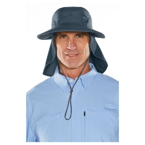 Coolibar---UV-cap-with-neck-and-ear-protection-for-men-and-women---dark-blue