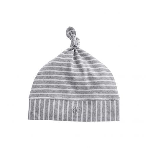 Coolibar---UV-baby-beanie-hat---grey/white-stripes