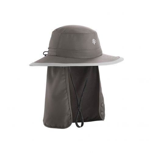 Coolibar---Children's-UV-hat-with-concealable-neck-flap---dark-grey
