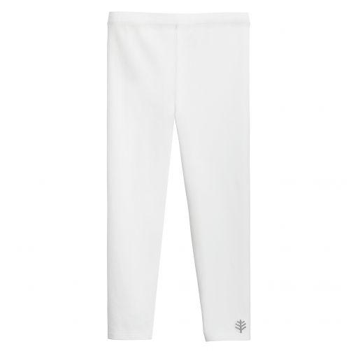 Coolibar - UV leggings for girls - white - Front