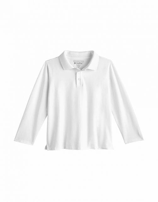 Coolibar---UV-Polo-Shirt-for-toddlers---Longsleeve---Coppitt---White