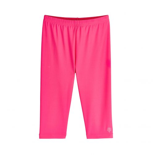 Coolibar - UV capri swim leggings for kids - pink - Front