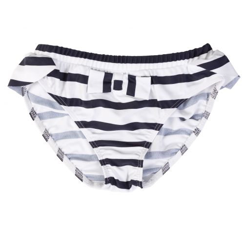 Petit Crabe - UV Bikini bottom - Striped - White/Navy - Front