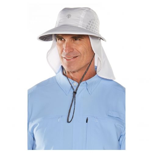 Coolibar---UV-cap-with-neck-and-ear-protection-for-men-and-women---white