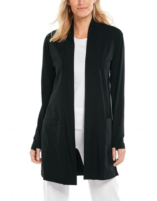 Coolibar---UV-Cardigan-for-women---Corbella---Black