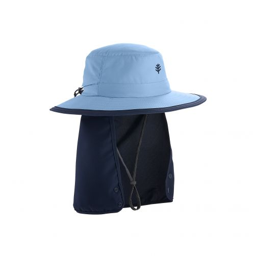 Coolibar---Children's-UV-hat-with-concealable-neck-flap---light-blue
