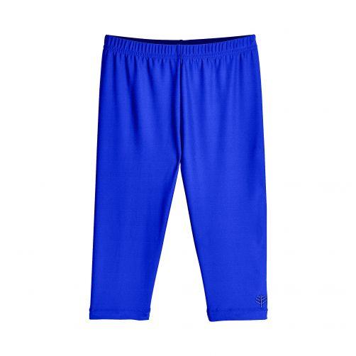 Coolibar - UV capri swim leggings for kids - blue - Front