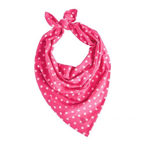 Coolibar---UV-protective-bandana-for-kids---Pink-/-White-polka-dots