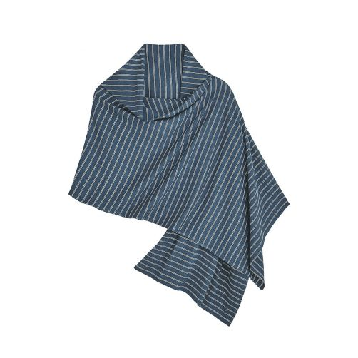 Coolibar---UV-sun-shawl-for-ladies---blue/white-stripes