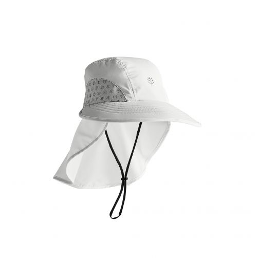 Coolibar---UV-cap-with-neck-protection-for-children---white