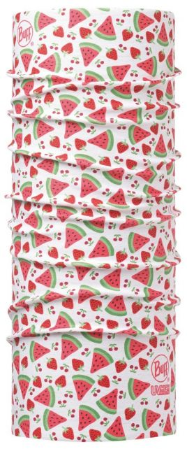 Buff---Kids'-UV-tube-scarf---Little-Fruits---Coral