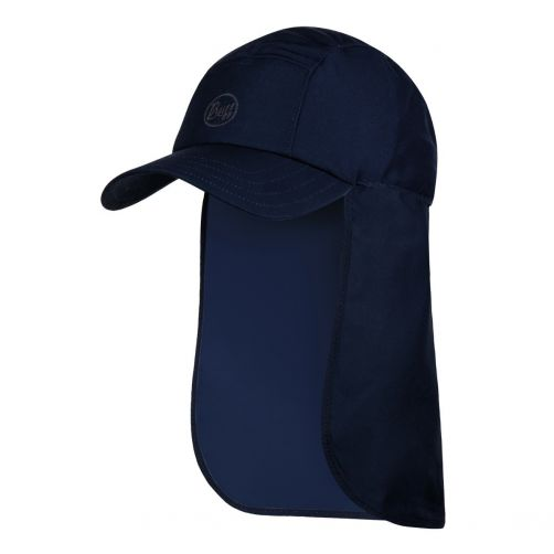 Buff---Bimini-UV-cap-with-neck-flap--Night-blue