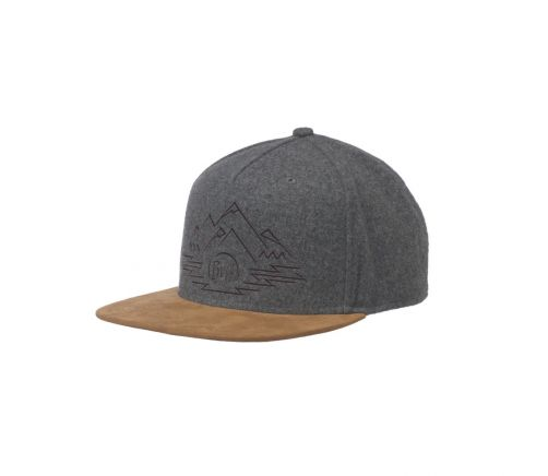 Buff---Snapback-Cap-Tyree-for-adults---Grey/Brown