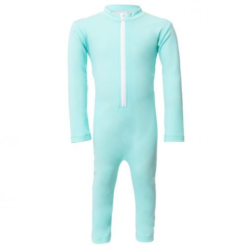 Petit Crabe - UV Swimsuit longsleeve - Star - Mint - Front