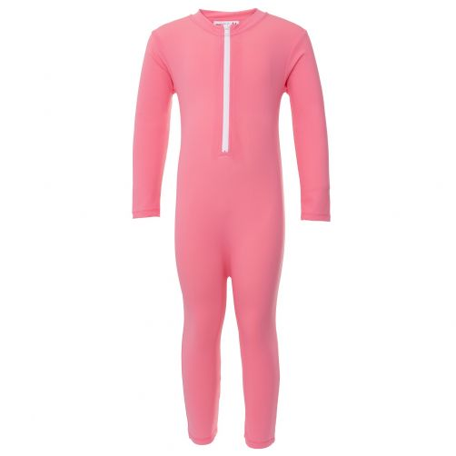 Petit Crabe - UV Swimsuit longsleeve - Star - Pink - Front