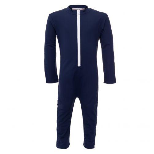 Petit Crabe - UV Swimsuit longsleeve - Chief - Navy - Front