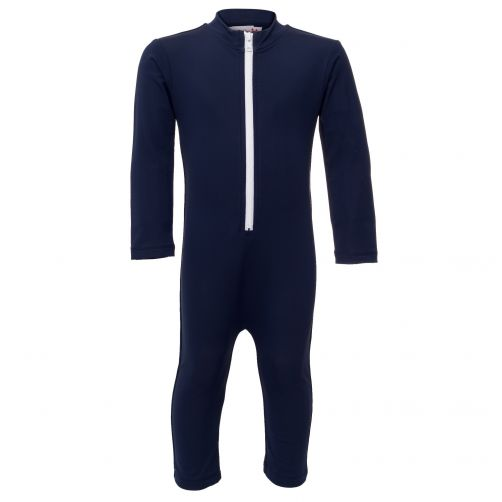 Petit Crabe - UV Swimsuit longsleeve - Star - Navy - Front