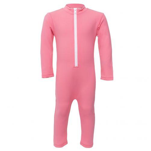 Petit Crabe - UV Swimsuit longsleeve - Popsicle - Pink - Front