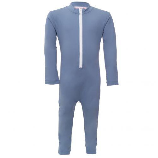 Petit Crabe - UV Swimsuit longsleeve - Chief - Light Blue - Front