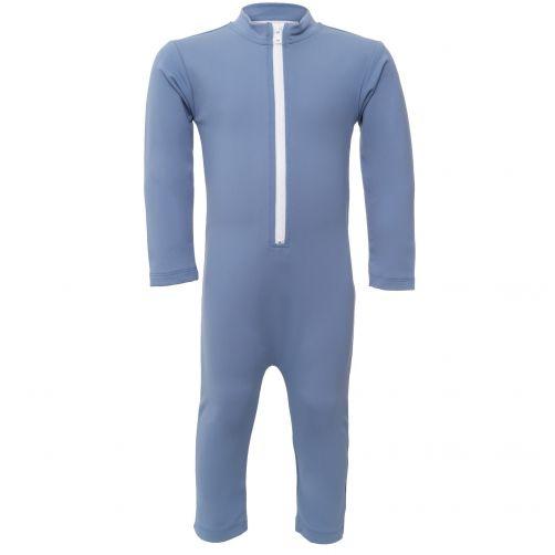 Petit Crabe - UV Swimsuit longsleeve - Star - Light Blue - Front