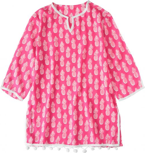 Snapper Rock - Tunic and cover-up girls - Hot Pink Pineapples - 0